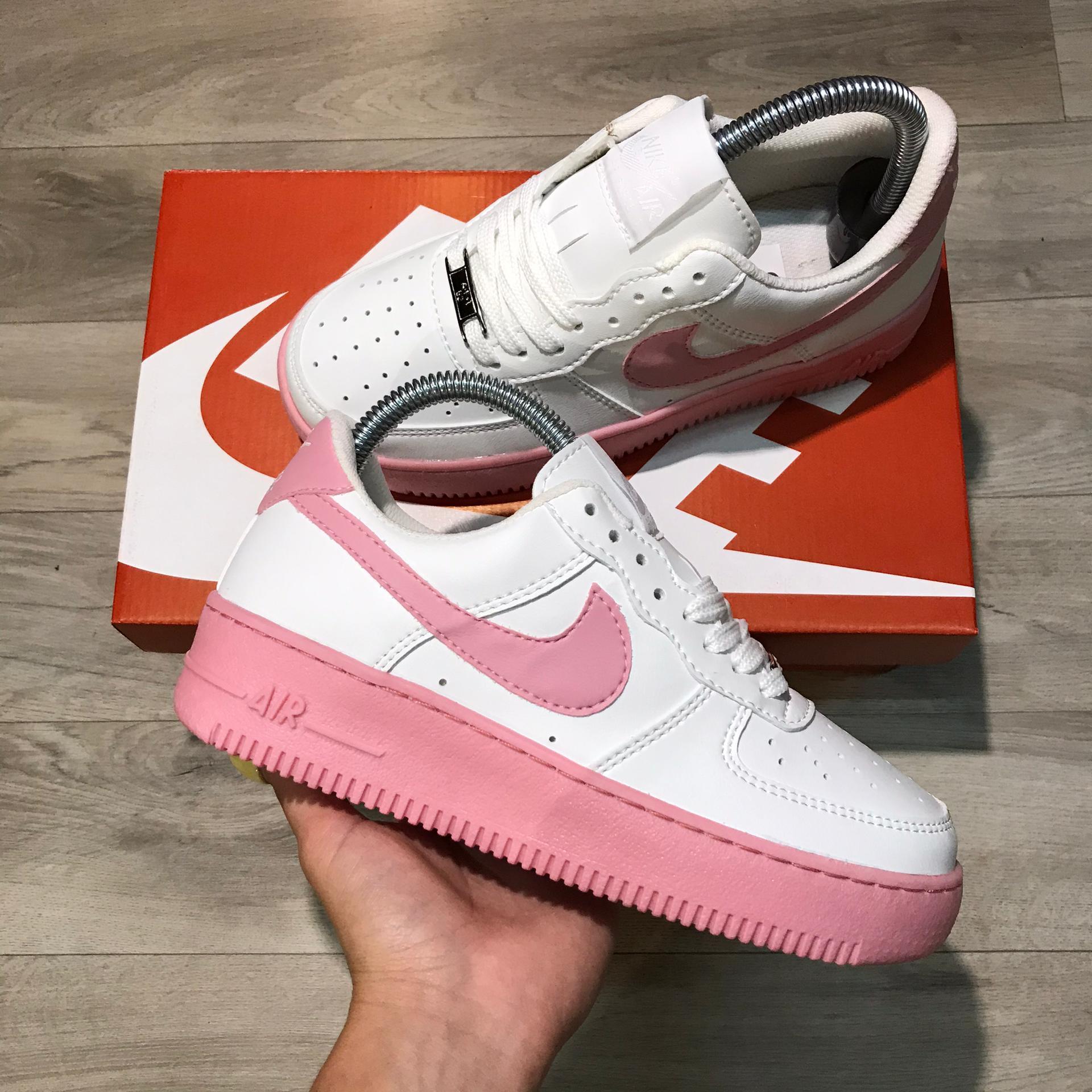 Air force suela/logo rosa